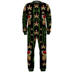 Roses In The Soft Hands Makes A Smile Pop Art Onepiece Jumpsuit (men)