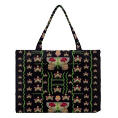 Roses In The Soft Hands Makes A Smile Pop Art Medium Tote Bag