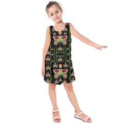 Roses In The Soft Hands Makes A Smile Pop Art Kids  Sleeveless Dress
