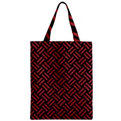Woven2 Black Marble & Red Denim (r) Zipper Classic Tote Bag