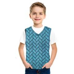 Brick2 Black Marble & Teal Brushed Metal Kids  Sportswear
