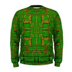 Golden Green And  Sunshine Pop Art Men s Sweatshirt