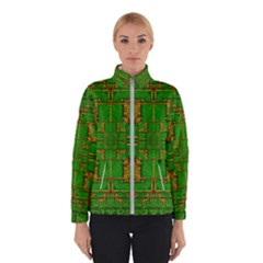 Golden Green And  Sunshine Pop Art Winterwear
