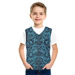 Damask2 Black Marble & Teal Brushed Metal Kids  Sportswear