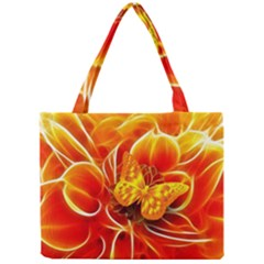 Arrangement Butterfly Aesthetics Orange Background Mini Tote Bag