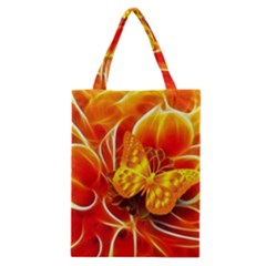 Arrangement Butterfly Aesthetics Orange Background Classic Tote Bag