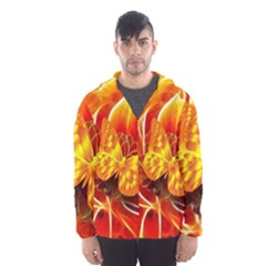 Arrangement Butterfly Aesthetics Orange Background Hooded Wind Breaker (men)