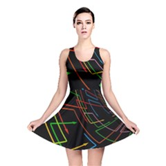Arrows Direction Opposed To Next Reversible Skater Dress