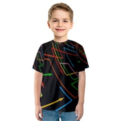 Arrows Direction Opposed To Next Kids  Sport Mesh Tee