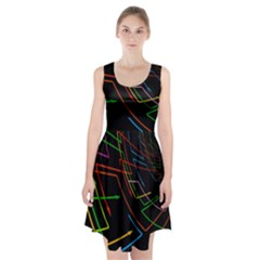 Arrows Direction Opposed To Next Racerback Midi Dress