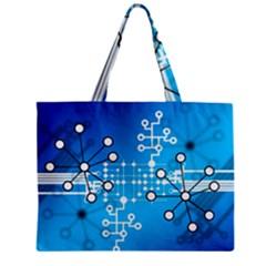 Block Chain Data Records Concept Mini Tote Bag