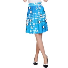 Block Chain Data Records Concept A Line Skirt