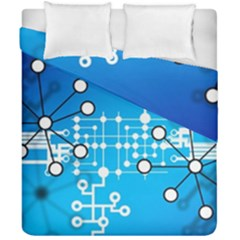 Block Chain Data Records Concept Duvet Cover Double Side (california King Size)