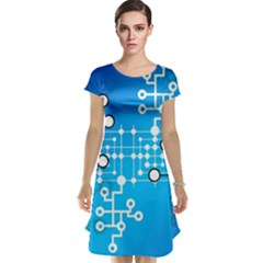 Block Chain Data Records Concept Cap Sleeve Nightdress
