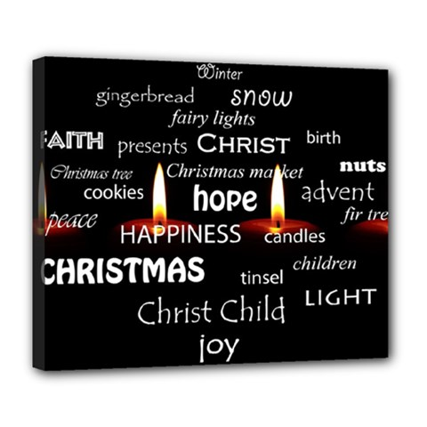 Candles Christmas Advent Light Deluxe Canvas 24  X 20
