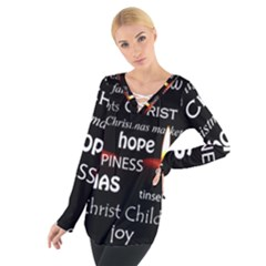 Candles Christmas Advent Light Tie Up Tee
