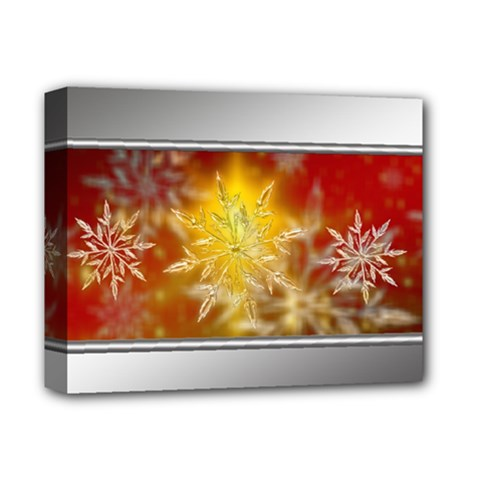 Christmas Candles Christmas Card Deluxe Canvas 14  X 11