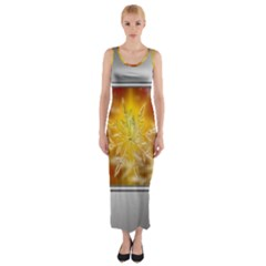 Christmas Candles Christmas Card Fitted Maxi Dress