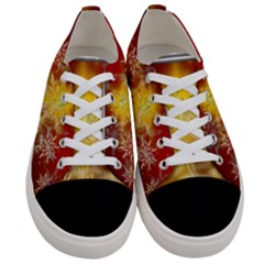 Christmas Candles Christmas Card Women s Low Top Canvas Sneakers