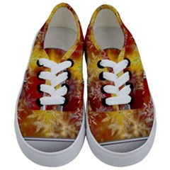 Christmas Candles Christmas Card Kids  Classic Low Top Sneakers