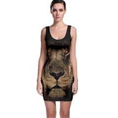 African Lion Mane Close Eyes Bodycon Dress