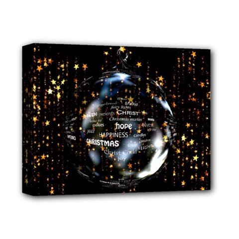 Christmas Star Ball Deluxe Canvas 14  X 11