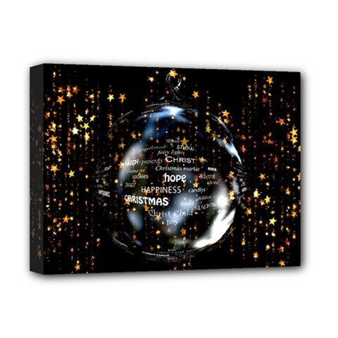 Christmas Star Ball Deluxe Canvas 16  X 12