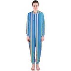 Colorful Color Arrangement Hooded Jumpsuit (ladies)