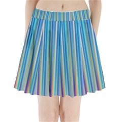 Colorful Color Arrangement Pleated Mini Skirt