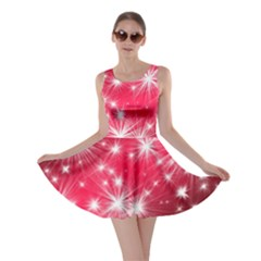 Christmas Star Advent Background Skater Dress