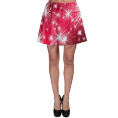 Christmas Star Advent Background Skater Skirt