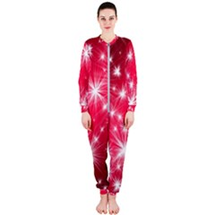 Christmas Star Advent Background Onepiece Jumpsuit (ladies)