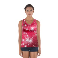 Christmas Star Advent Background Sport Tank Top