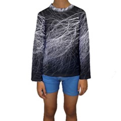 Flash Black Thunderstorm Kids  Long Sleeve Swimwear