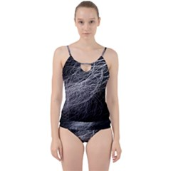 Flash Black Thunderstorm Cut Out Top Tankini Set