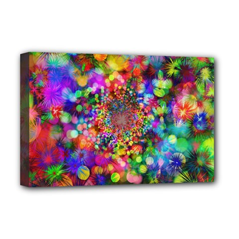 Background Color Pattern Structure Deluxe Canvas 18  X 12