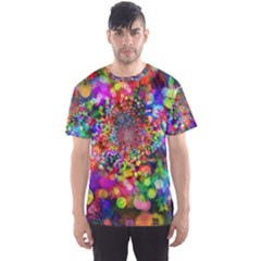 Background Color Pattern Structure Men s Sports Mesh Tee