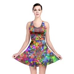 Background Color Pattern Structure Reversible Skater Dress