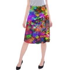 Background Color Pattern Structure Midi Beach Skirt