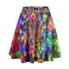 Background Color Pattern Structure High Waist Skirt
