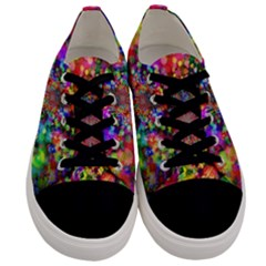 Background Color Pattern Structure Men s Low Top Canvas Sneakers