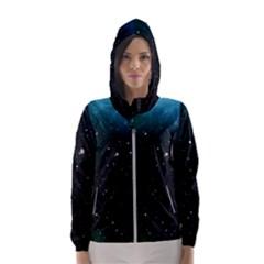 Galaxy Space Universe Astronautics Hooded Wind Breaker (women)