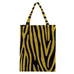 Skin4 Black Marble & Yellow Denim Classic Tote Bag