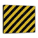 STRIPES3 BLACK MARBLE & YELLOW DENIM (R) Deluxe Canvas 24  x 20   View1