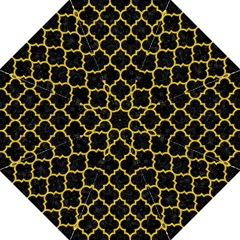 Tile1 Black Marble & Yellow Denim (r) Golf Umbrellas