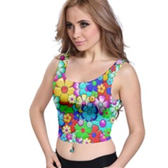 Flowers Ornament Decoration Crop Top