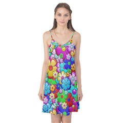 Flowers Ornament Decoration Camis Nightgown