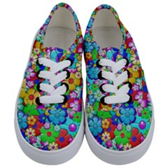 Flowers Ornament Decoration Kids  Classic Low Top Sneakers