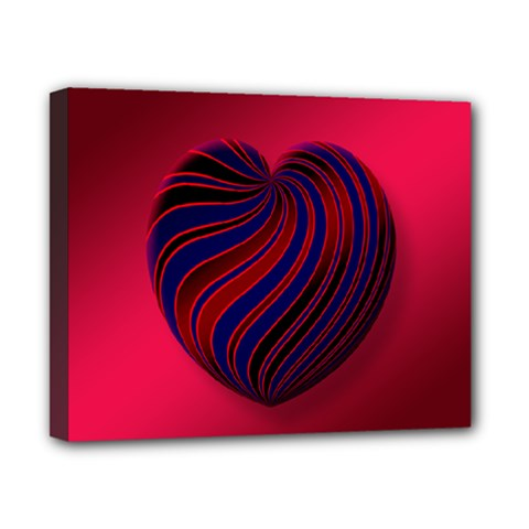 Heart Love Luck Abstract Canvas 10  X 8