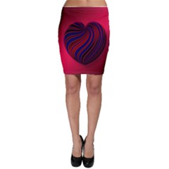 Heart Love Luck Abstract Bodycon Skirt